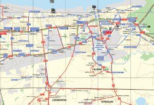 Viešojo transporto maršrutų žemėlapis
